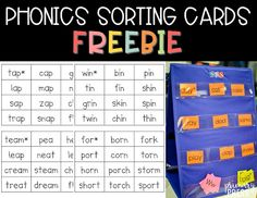 This post has so many great ideas for phonics small groups! Lots of freebies to help teach phonics in kindergarten or first grade.