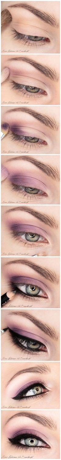 purple eyeshadow with eyeliner