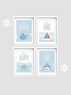 Nautical Baby Nursery, Nautical Wall Decor, Baby Nursery Decor, Nursery Themes, Nursery Wall Art, Tree Wall Art, Art Wall Kids, Wall Art Sets, Wall Art Prints