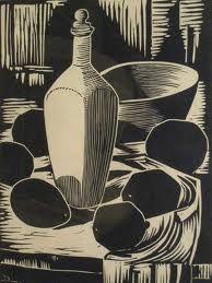 122, David Botha (1921 - 1994) Linocut Still Life Signed & Numbered 82/100