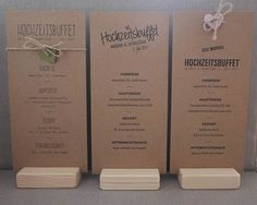 Hochzeitskarten aus Kraftpapier / Kraft wedding invitations