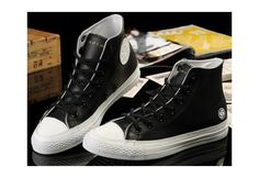 Converse Shoes Black/White X SUBCREW Limited Edition Chuck Taylor Womens/Mens Leather Hi Sneakers