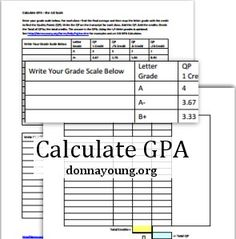 How To Calculate High School GPA On The Scale. Page Includes An XLS  Calculator And A Worksheet In Doc And Pdf Formats.