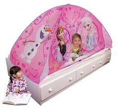 Princess Play Bed 2 in 1 Pop Up Frozen Tent Little Girl Room Floor Polyester New #PlayHut