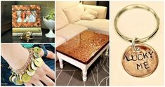 There are just numerous different DIY crafts to do with the pennies, these DIY penny projects that will make you learn the so many different ways to get crafty with the pennies to achieve custom Cool Diy, Easy Diy, Earbud Holder Diy, Smashed Pennies, Penny Bracelet, Diy Crafts To Do, Lucky Penny, Box, Diy Projects