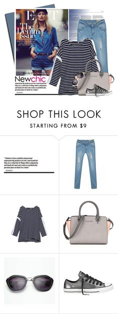 """""""NEWCHIC.com"""" by monmondefou ❤ liked on Polyvore featuring Converse, women's clothing, women's fashion, women, female, woman, misses, juniors and newchic"""