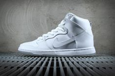 premium selection 69519 afba8 Nike SB Dunk High Pro White Light Base Grey
