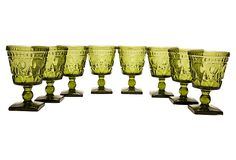 1960's Emerald Indiana Glasses, S/8 from the US on OneKingsLane.com