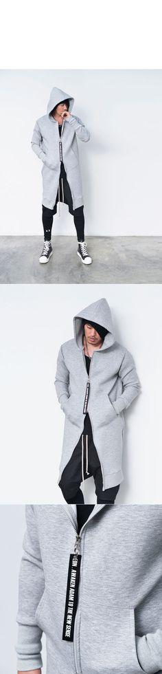 Tops    Hoodies    Re)Neoprene Dual Zip Long Hood Zipup-Hoodie 134 -  GUYLOOK Men s Trendy Fashion Clothing Online 3ec9d435871