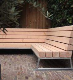 Lounge Hoek Robust Lounge Bench For The Garden Furniture Maker Wood Squared Tough Stuff Best Outdoor Furniture, Outdoor Garden Furniture, Garden Chairs, Outdoor Decor, Modern Furniture, Rustic Furniture, Antique Furniture, Furniture Layout, Furniture Decor