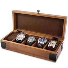 Ideas for Rob: Wood Watch Box - $29.99 BedBathandBeyond.com