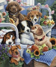 Are you looking for paint by number kits of dogs? If so you'll find plenty of really adorable paint by number kits of dogs and puppies! These paint by number kits of dogs make perfect gifts for anyone who is a dog lover. Animal Paintings, Animal Drawings, Images Kawaii, Cute Puppies, Dogs And Puppies, Graffiti Kunst, Animals And Pets, Cute Animals, Dog Art