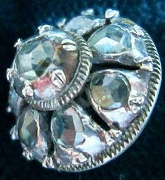 Georgian Period Rose Cut Diamonds18th-19th Century Approx 2 ct TW Silver.