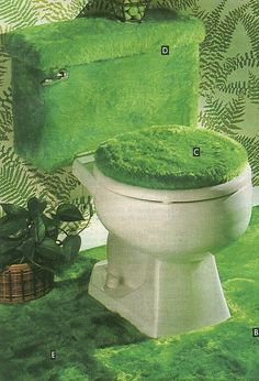 ATOMIC CHRONOSCAPH — mangodebango:   Green fur bathroom from an...