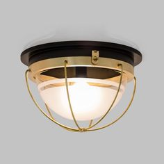 Malplaquet Flushmount  MidCentury  Modern, Transitional, Metal, Glass, Flush Mount by The Urban Electric Co