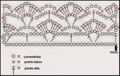 Bildergebnis für top crochet passo a passo Filet Crochet, T-shirt Au Crochet, Crochet Towel, Crochet Lace Edging, Crochet Shirt, Crochet Borders, Crochet Diagram, Irish Crochet, Crochet Leaf Patterns