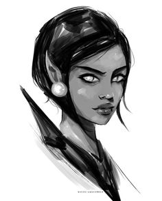 Little sketch of Amren. I just finished ACOMAF yesterday and it was seriously…