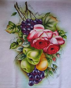 Floral Wreath, Wreaths, Decor, Painting Tricks, Colouring Pencils, Pens, Painting On Fabric, Watercolors, Animals
