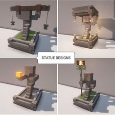 STATUE DESIGNS – popular memes on the site ifunny.co Minecraft Mansion, Minecraft Cottage, Easy Minecraft Houses, Minecraft Medieval, Minecraft Room, Minecraft Plans, Minecraft House Designs, Minecraft Decorations, Amazing Minecraft