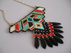 Native American Beadwoven Pendant  by pattimacs on Etsy, $42.00
