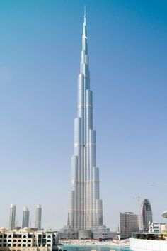 Burj Khalifa, Dubai, United Arab Emirates (UAE)  The massive Burj Khalifa in Dubai, UAE, is by far the tallest man-made structure ever built. It stands an awe-inspiring 828m (2,717ft) above ground and has 160 floors. It became the world's tallest building when it opened on January 4th, 2010.