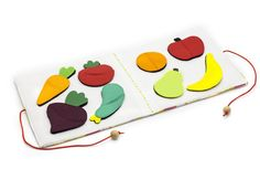 Quiet book mini Fruits and veggies toy travel busy mat