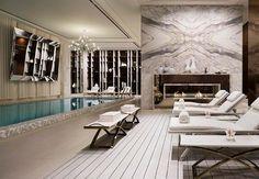 Seoul hotel pool lounge chairs