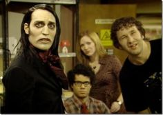 IT Crowd: Richmond, Moss, Jen and Roy; everyone tries to figure out what…