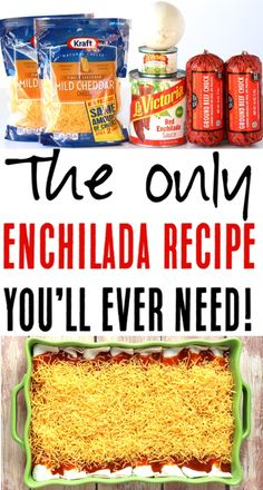 Enchiladas Beef Easy Authentic Recipes Using Hamburger Meat! Give Taco Tuesday . - Enchiladas Beef Easy Authentic Recipes Using Hamburger Meat! Give Taco Tuesday a break this week, - Easy Beef Enchiladas, Enchilada Casserole Beef, Ground Beef Enchiladas, Delicious Beef Enchilada Recipe, Enchiladas With Flour Tortillas, Beef Enchilada Recipes, Authentic Beef Enchilada Recipe, Burrito Casserole, Homemade Enchiladas