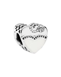 Pandora Charm - Sterling Silver, Cubic Zirconia & Enamel Our Special Day, Moments Collection