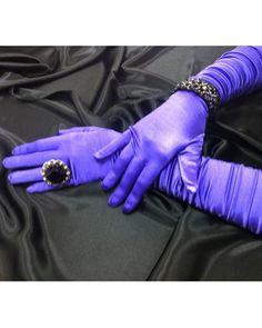 Scrunchy Purple Gloves at PromDressShop.com
