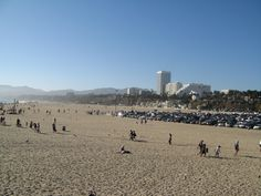 Viewing the city of Santa Monica from the pier