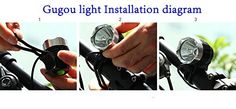 """Amazon.com : Gugou Rechargeable Mountain Bike Headlight - With """"NEW"""" 6400mAh Battery - POWERFUL 1200 Lumens - FREE TAILLIGHT Included - LIFETIME WARRANTY : Sports & Outdoors Bike Light, Light Installation, Tail Light, Mountain Biking, Outdoors, Amazon, Sports, Free, Hs Sports"""