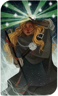 The Star - Look, I made a tarot card for my Inquisitor! I tried to make my card fit in with the rest of the deck and, well… I tried. I probably should mention that I got heavily inspired by Alphonse...