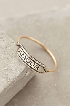 Workhorse Amour Banner Ring | modern heirlooms that you can't stop wearing, like this ardent ring. Amour ring