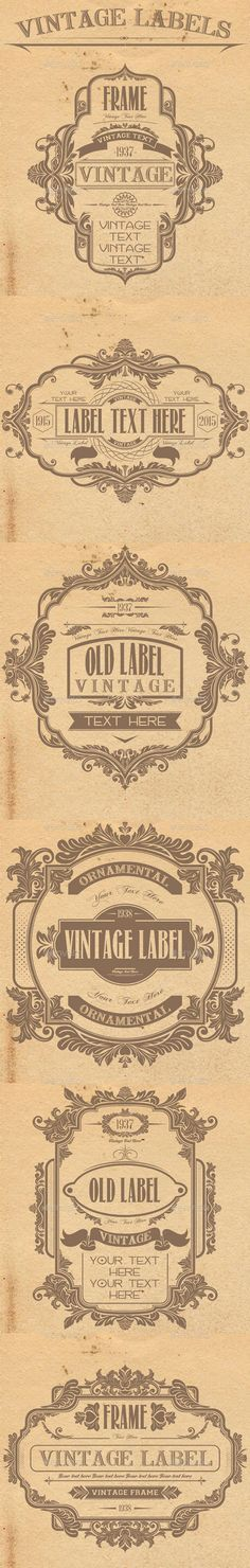 Vintage Labels - Badges & Stickers Web Elements                                                                                                                                                                                 More