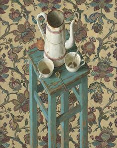Still life // by Kenne Gregoire Land Art, Realistic Paintings, Dutch Painters, Still Life Art, Coffee Art, Online Art, Les Oeuvres, Impressionist, New Art