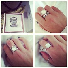 @officialpandora 's moonlight serenade! Three #gorgeous rings for only $100