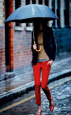 red pants + layers