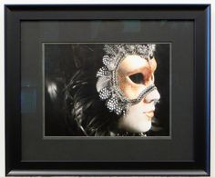 The dark frame and matting on this piece lets the subject pop out. #framedart #photography