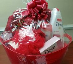 Dove gift basket for her Mothers Day Baskets, Gift Baskets For Women, Diy Mothers Day Gifts, Diy Gifts, Valentine Baskets, Christmas Gift Baskets, Valentine Gifts, Christmas Gifts, Xmas