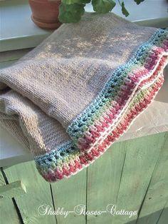 Shabby-Roses-Cottage: Knit & crochet... A new blanket...