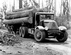 338398 Mack Truck with Logs, Kinzua, Oregon 1936 Old Mack Trucks, Big Rig Trucks, Cool Trucks, Semi Trucks, Antique Trucks, Vintage Trucks, Antique Cars, Logging Equipment, Heavy Equipment