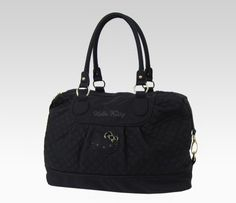 Hello Kitty Quilted Weekend Bag: Black