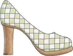Estos dibujos coloreados de zapatos de tacon  para imprimir se pueden utilizar en trabajos manuales relacionados con el mundo de la mujer y ...
