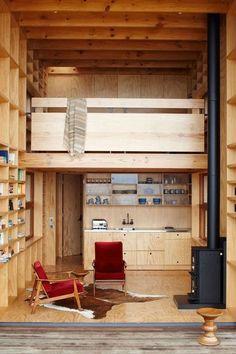Interior Design living room, timber