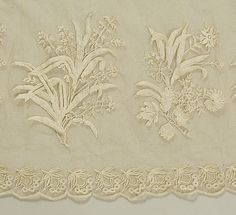Detail from 1805-1810 British gown, Met 1987.190.3
