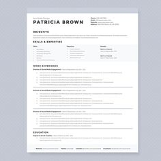 Print out resume