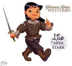 """Lilo and Stitch   Disney Princesses As """"Game Of Thrones"""" Characters"""