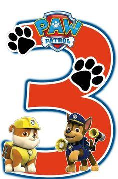 Image result for numeros de paw patrol EN PNG
